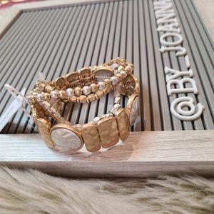 NWT *BANCROFT* Stacking Elastic Band Bracelets